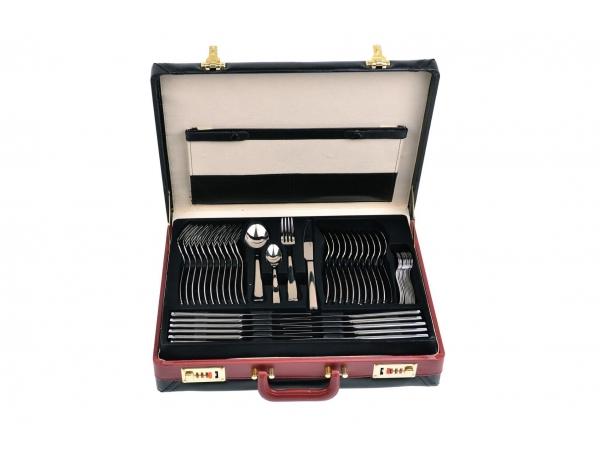 Set tacamuri inox 2.5mm, lux, 12 persoane, 48 piese, Diplomat-Eva