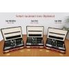 Set tacamuri inox 3mm, lux, 12 persoane, 48 piese, Diplomat-Iris