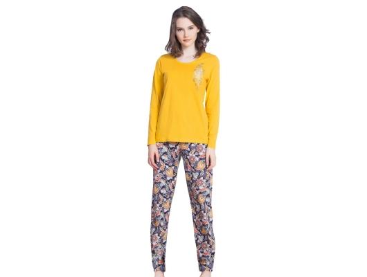 Pijama dama Elegant din bumbac subtire, marimi S-XL