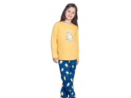 Pijama copii vatuita de iarna Yellow Bear, marimi 9-16 ani