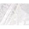 Fata de masa damasc alb, cu dantela,  320x150 cm, cu 12 servetele fara dantela