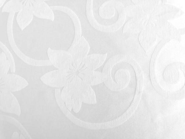 Fata de masa damasc gros calitate I alb, 150x260 cu 12 servetele