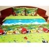 Lenjerie de pat de LUX Angry Birds - Duo Green,  bumbac de calitate I