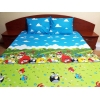 Lenjerie de pat de lux Angry Birds Duo Azur-M, 2 persoane, bumbac calitate I