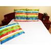 Lenjerie de pat Multicolor Duo White, 2 persoane, calitate I, gama Lenjerii CriDesign