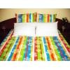 Lenjerie de pat Multicolor Duo White CV, 2 persoane, calitate I, gama Lenjerii CriDesign