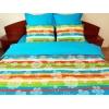 Lenjerie de pat Multicolor Duo Azur, 2 persoane, calitate I, gama Lenjerii CriDesign