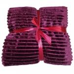 Patura pufoasa si catifelata  Bordeaux 150x200 cm